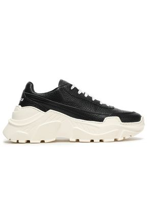 JOSHUA*S Textured-leather perforated sneakers