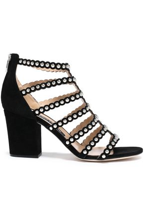 SERGIO ROSSI Studded suede sandals