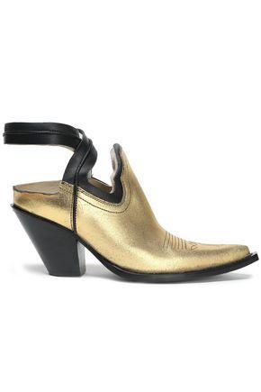 MAISON MARGIELA Cutout metallic leather ankle boots