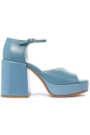 MM6 MAISON MARGIELA Glossed and patent-leather platform sandals