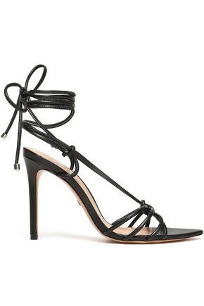 SCHUTZ Knotted leather sandals