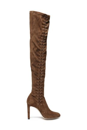 JIMMY CHOO Lace-up suede thigh boots