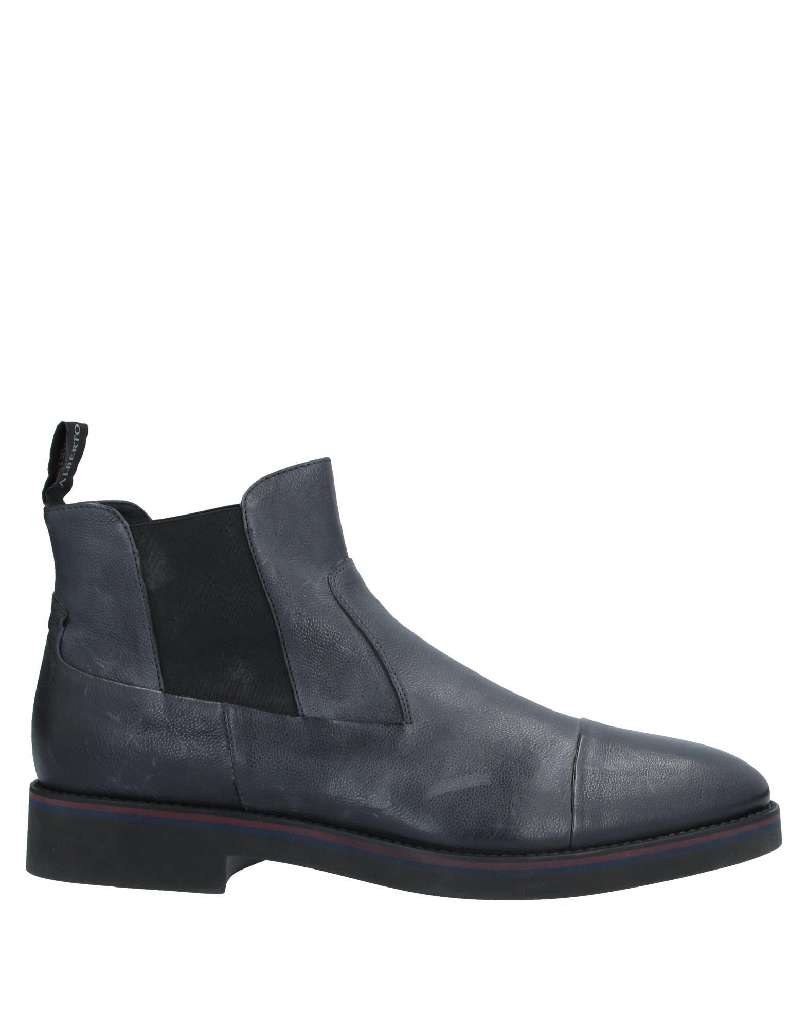 《セール開催中》ALBERTO GUARDIANI メンズ ショートブーツ ブラック 45 革