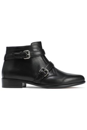 TABITHA SIMMONS Windle buckle-detailed leather ankle boots