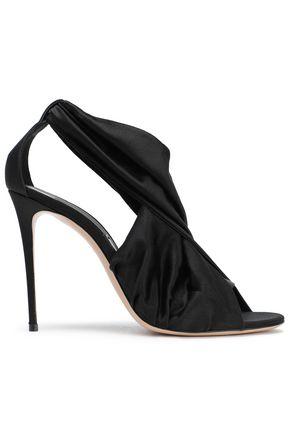 CASADEI Twist-front silk-blend satin sandals