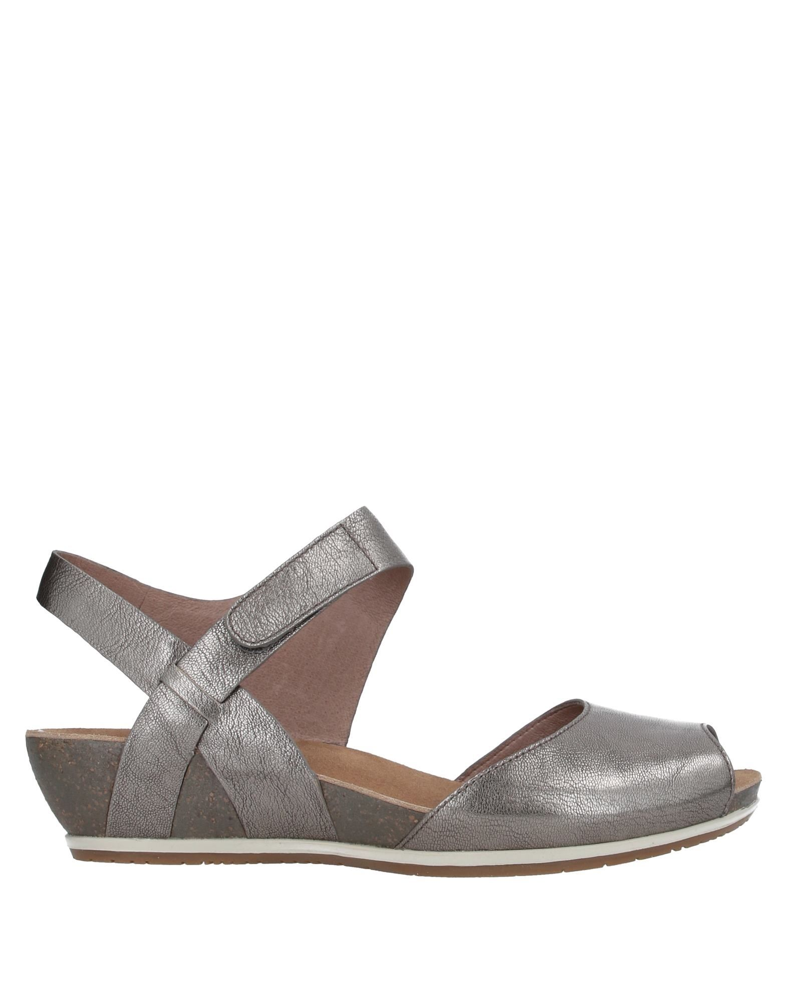 DANSKO Sandals. laminated effect, nappa leather, no appliqués, solid color, velcro closure, round toeline, wedge heel, leather lining, rubber cleated sole, contains non-textile parts of animal origin. Soft Leather