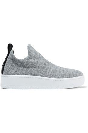 RAG & BONE Mélange stretch-knit slip-on platform  sneakers