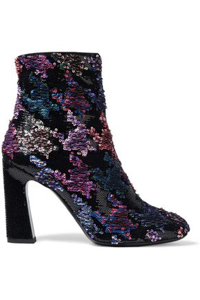 ROGER VIVIER Sequined suede ankle boots