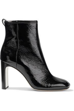 RAG & BONE Ellis textured patent-leather ankle boots
