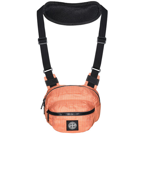 STONE ISLAND 90766 REFLECTIVE WEAVE RIPSTOP WAIST BAG Man Orange