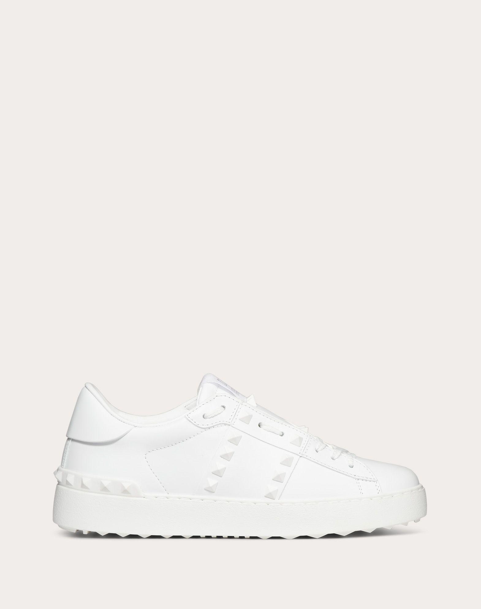 Rockstud Untitled Sneaker in Calfskin Leather