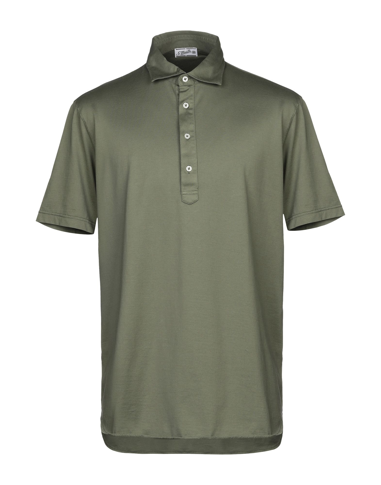 《セール開催中》S. MORITZ メンズ ポロシャツ ミリタリーグリーン 56 コットン 100%