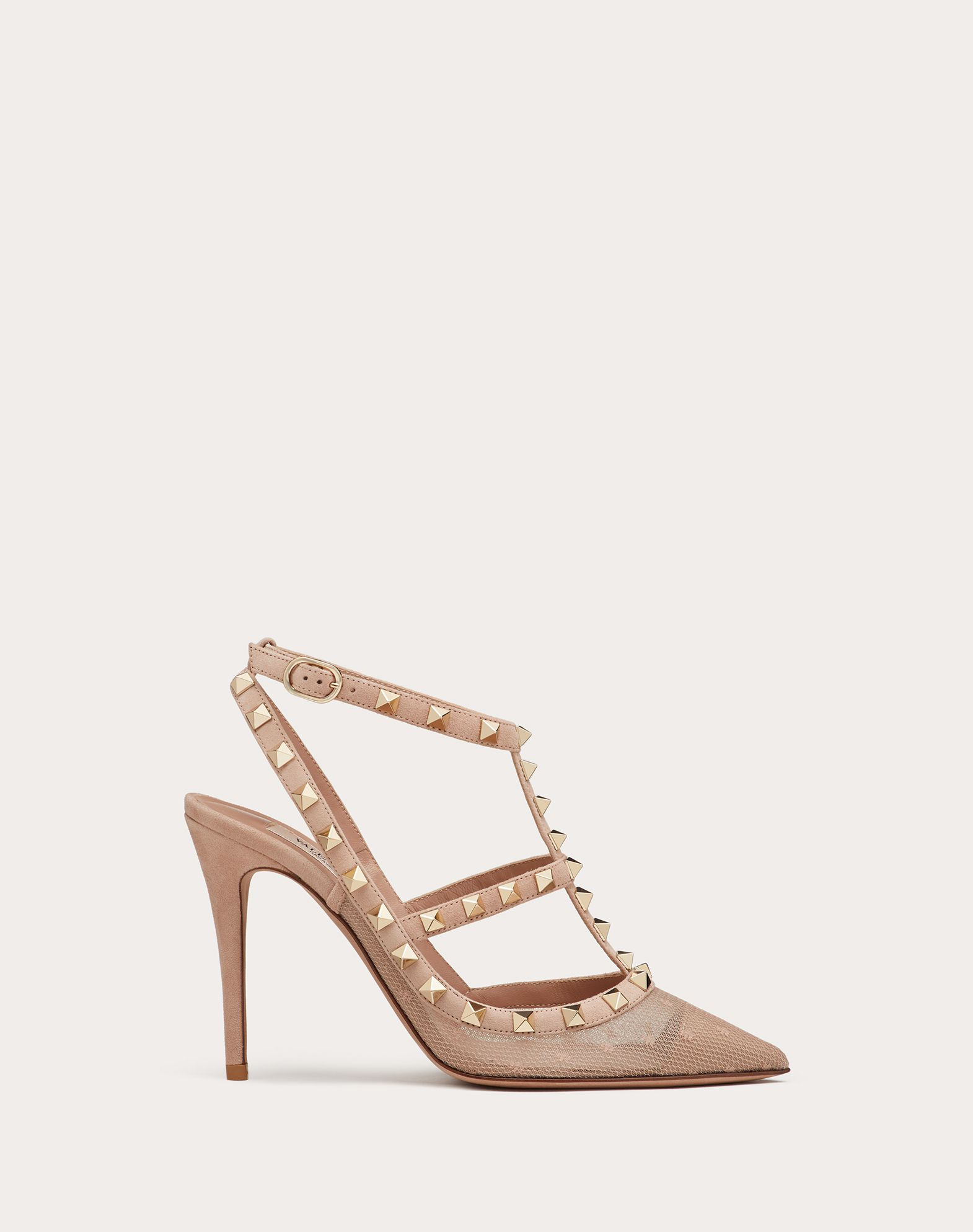 Rockstud Lace Pump with Straps 100 mm