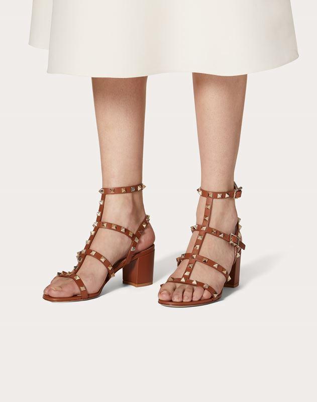 Sandales Rockstud à brides en veau. Talon: 60 mm