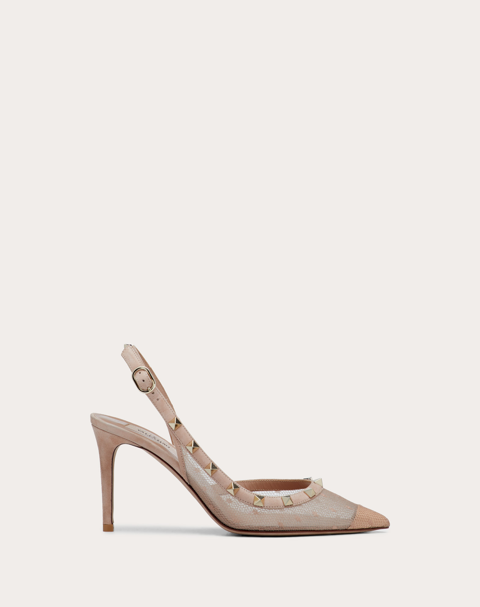Rockstud Lace Slingback Pump 85 mm