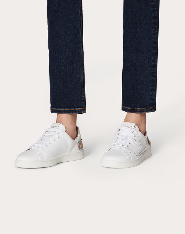 BACKNET Sneaker in Calfskin Leather