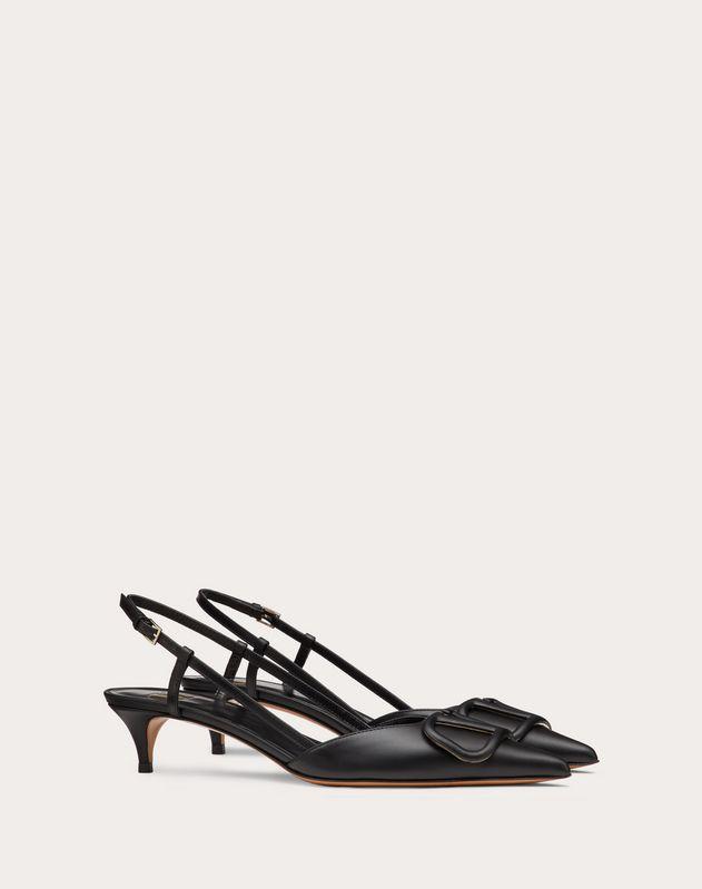 Туфли с задним ремешком VLOGO из телячьей кожи, каблук 40 мм