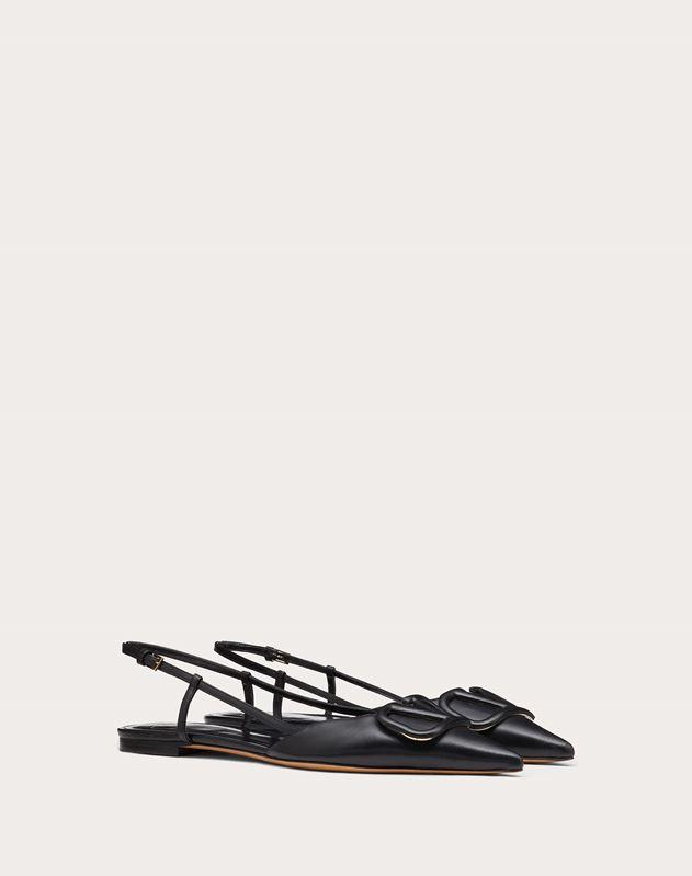 VLOGO Calfskin Slingback Ballet Flat