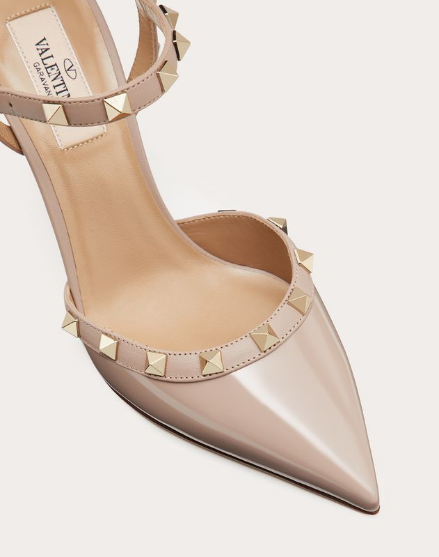 Rockstud Patent Leather Slingback Pump 85 mm