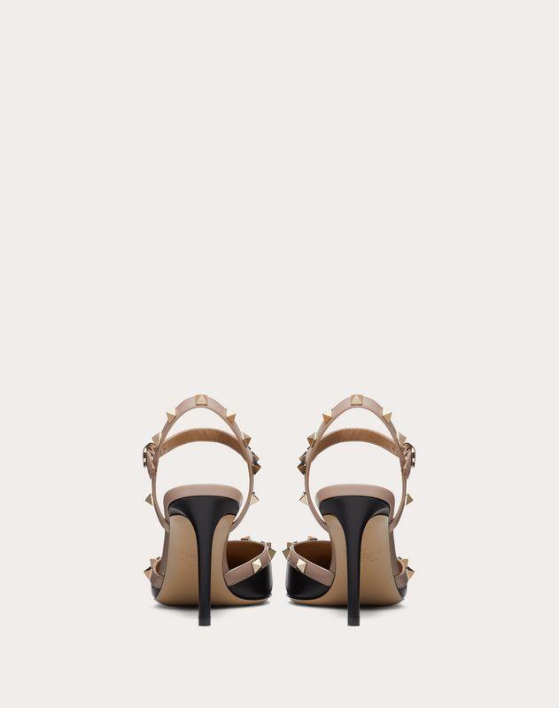 Туфли с задним ремешком Rockstud из телячьей кожи, каблук 85 мм