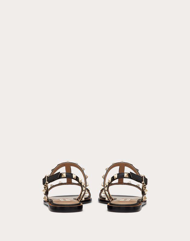 Rockstud Flat Calfskin Sandal