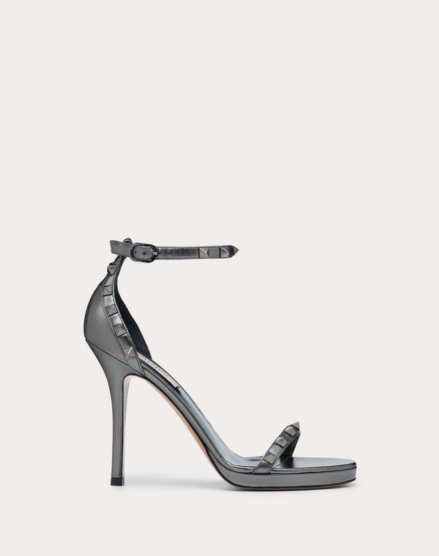 Valentino Garavani Rockstud Laminated Nappa Platform Sandal 110 mm