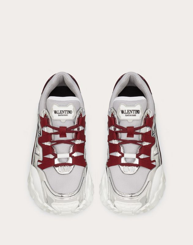 Valentino Garavani CLIMBERS Sneaker in fabric and calfskin leather