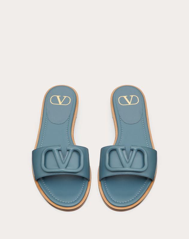 VLOGO Flat Calfskin Slide Sandal