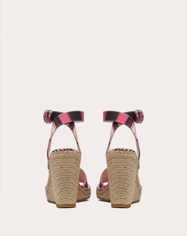 VLOGO Pop Baidera Print Canvas Wedge Sandal 105 mm