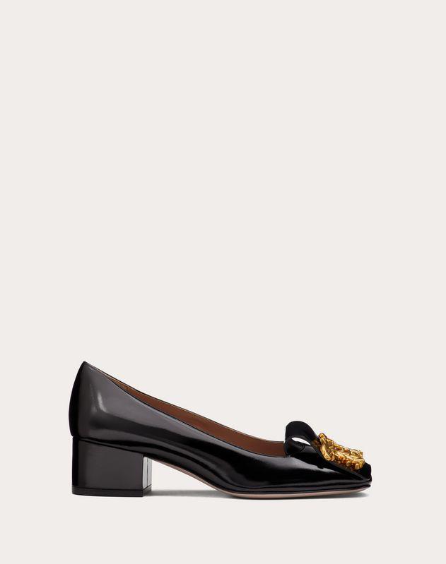Zapatos de salón de alimoches de piel de becerro con tacón de 45 mm