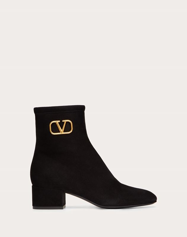 VLOGO Suede Ankle Boot 45 mm
