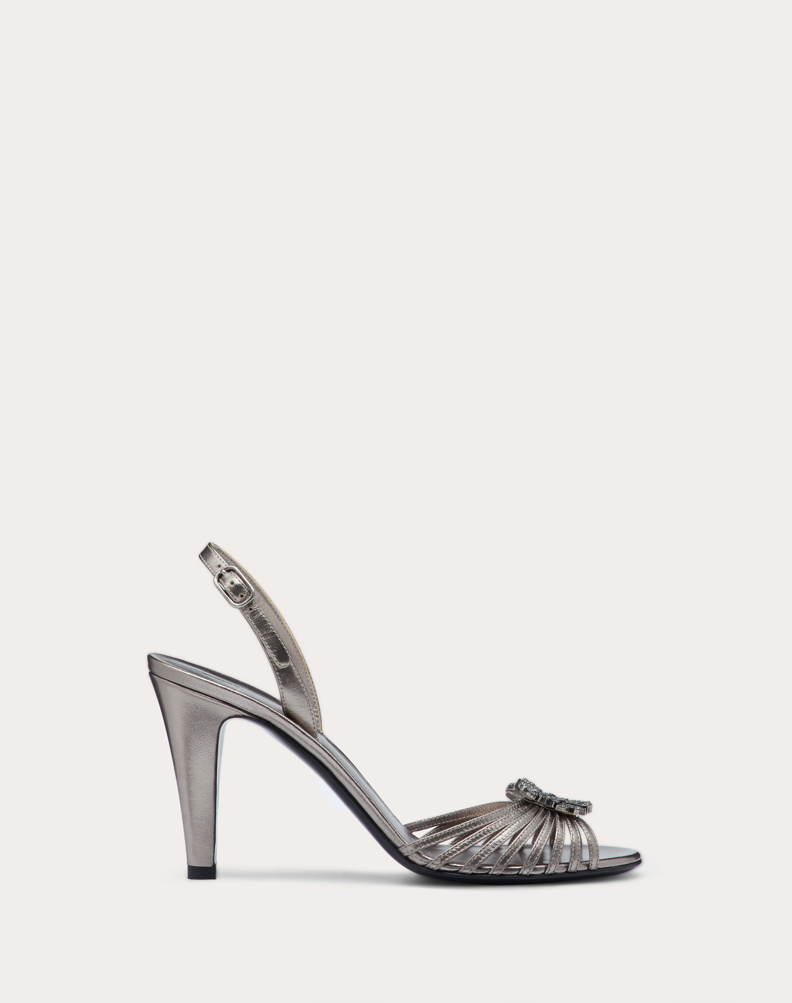 Griffin Laminated Nappa Sandal 90 mm