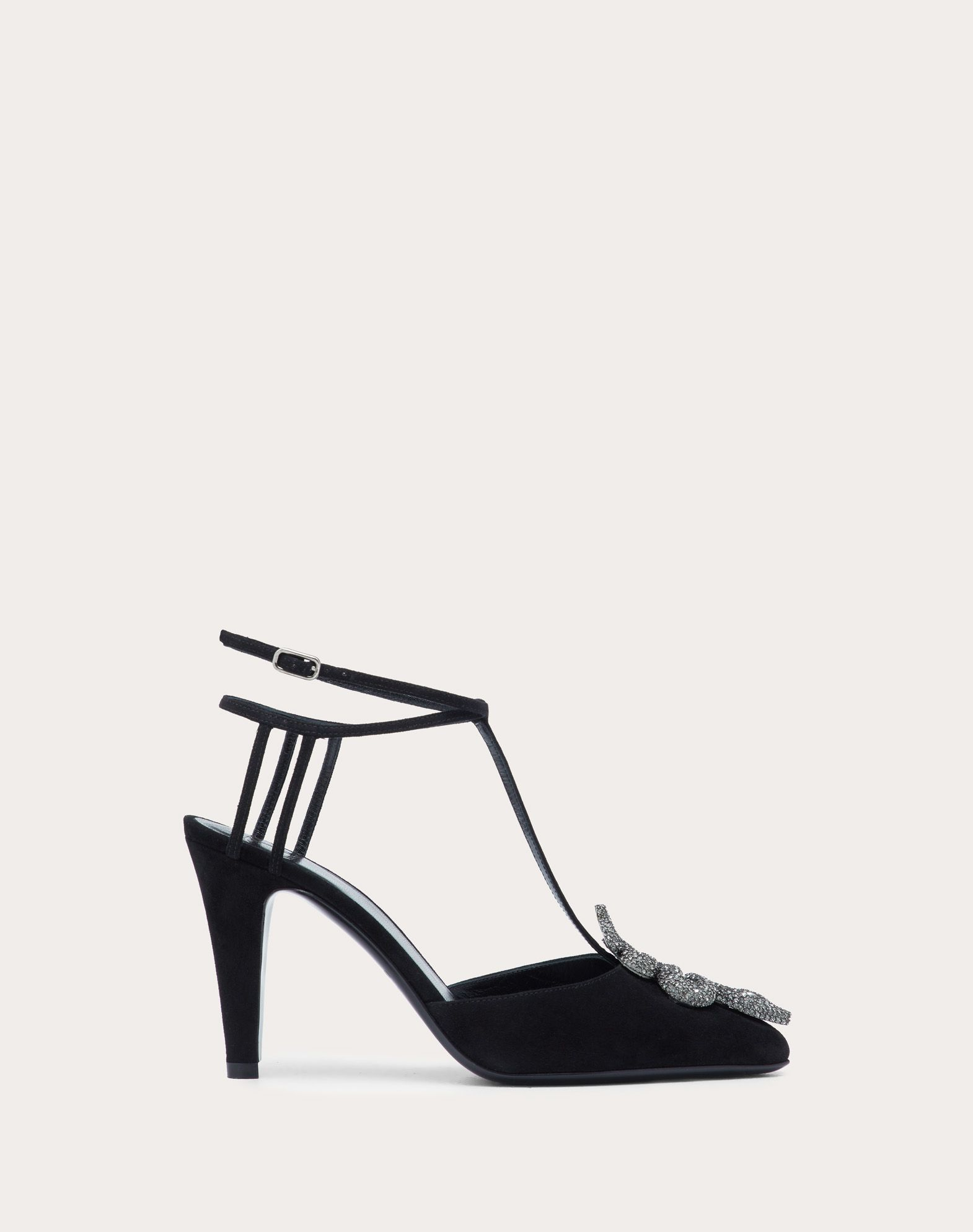 Serpent Suede Pump with Straps 90 mm