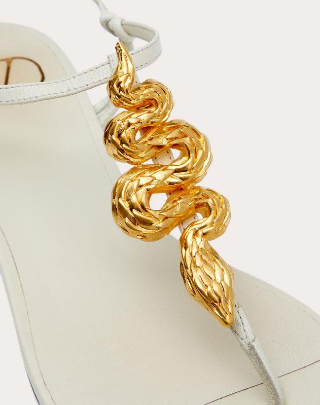 Flache Dianetten Rockstud aus Ziegenleder mit Schlangendetail