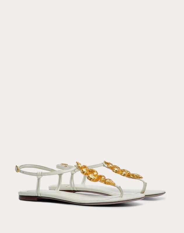 Serpent Flat Kidskin Sandal