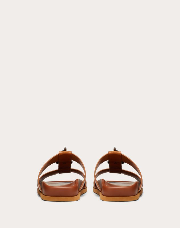 Serpent Flat Calfskin Slide Sandal