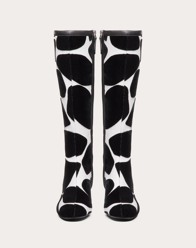 City Safari Nappa Boot with Giraffe Embroidery 45 mm