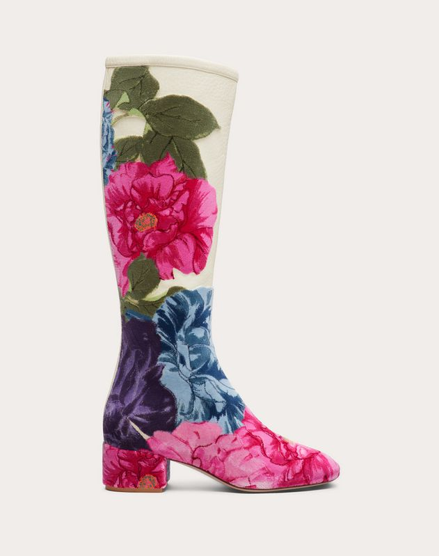 City Safari Nappa Boot with Camellia Embroidery 45 mm