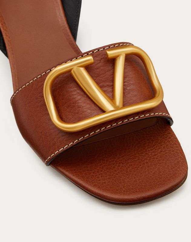 VLOGO Grainy Vachetta Leather Sandal 60 mm