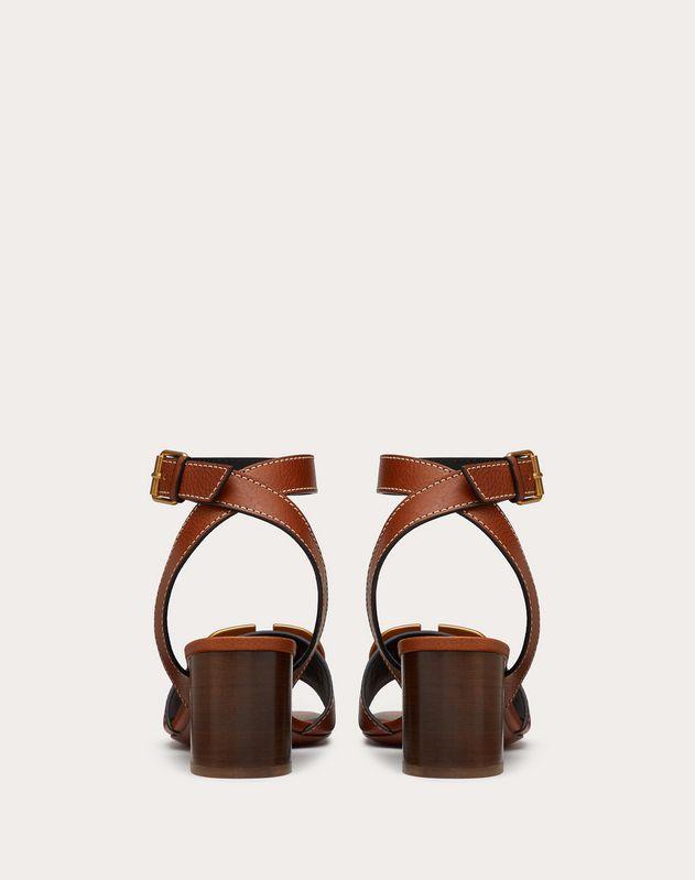 Sandales VLOGO en cuir de vachette grainé. Talon: 60 mm