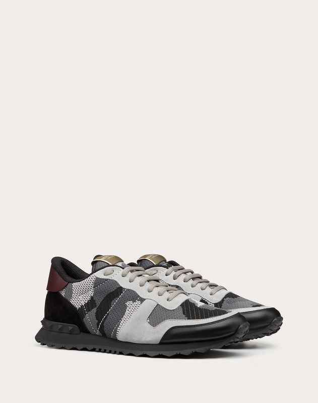 Mesh Fabric Camouflage Rockrunner Sneaker