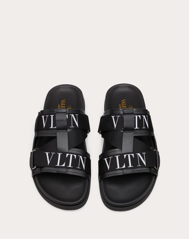 Calfskin and Rubber VLTN Sandal