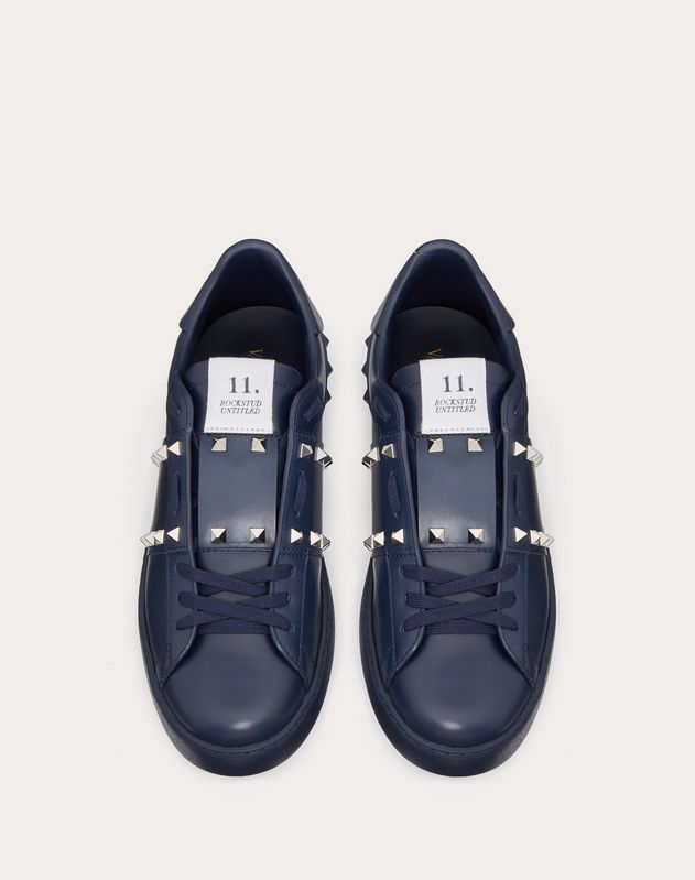 Sneaker Rockstud Untitled in Vitello Marine