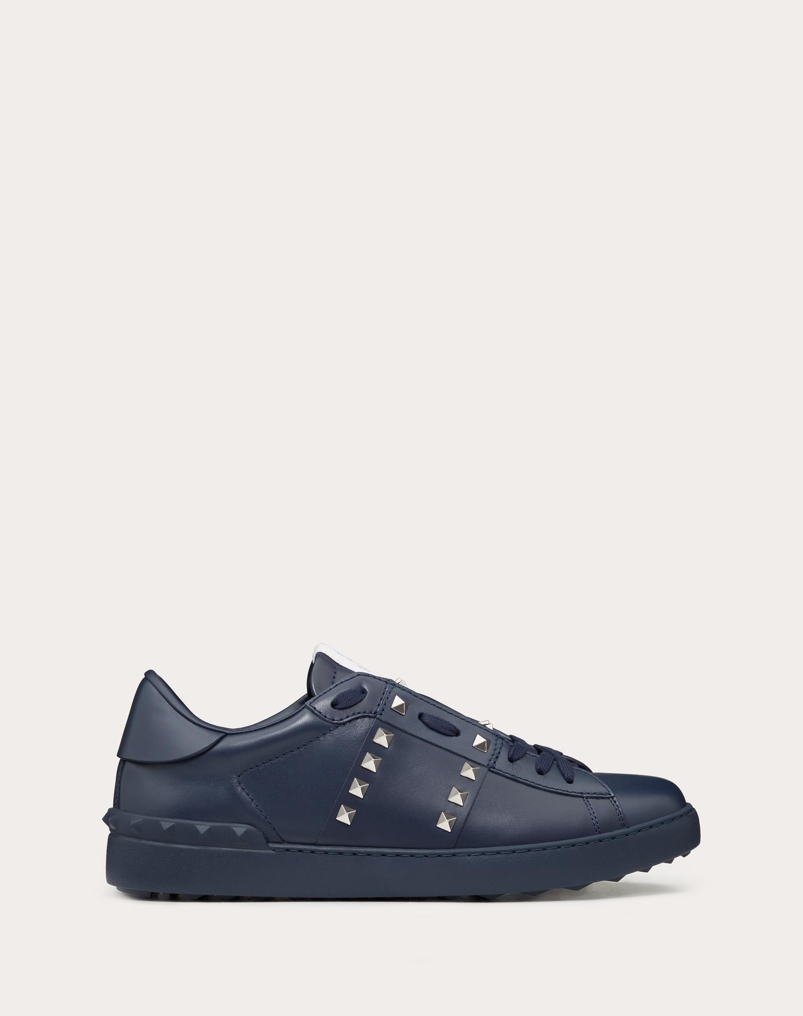 Sneakers Rockstud Untitled aus marineblauem Kalbsleder