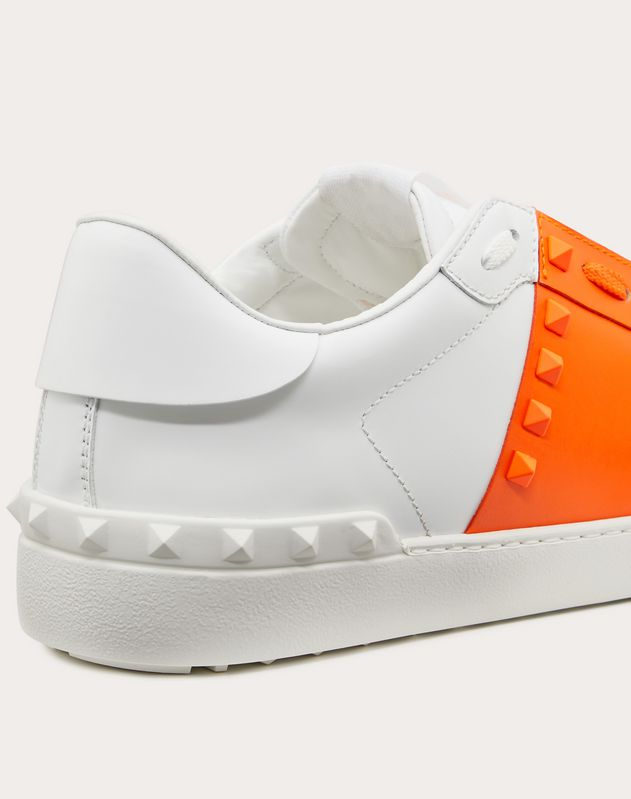 Sneaker Rockstud Untitled in Vitello Fluo