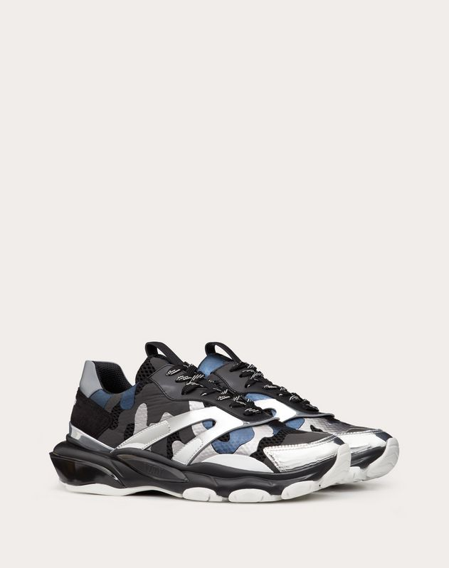 Laminated Mirror Camouflage Bounce Sneaker