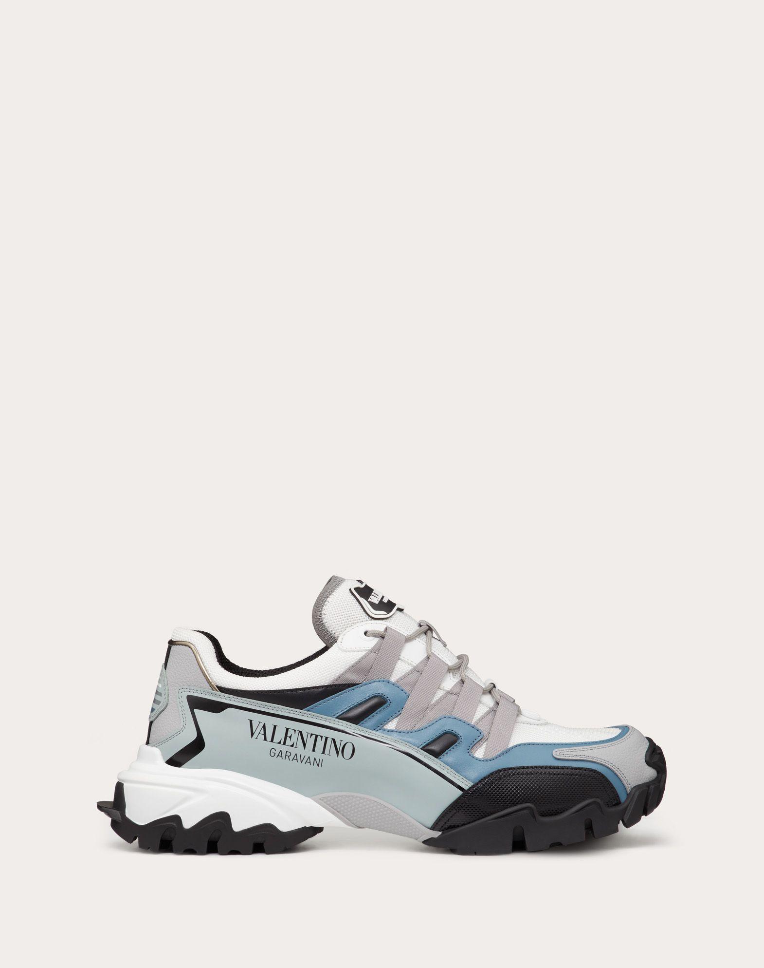Sneaker Climbers in tessuto e Pelle