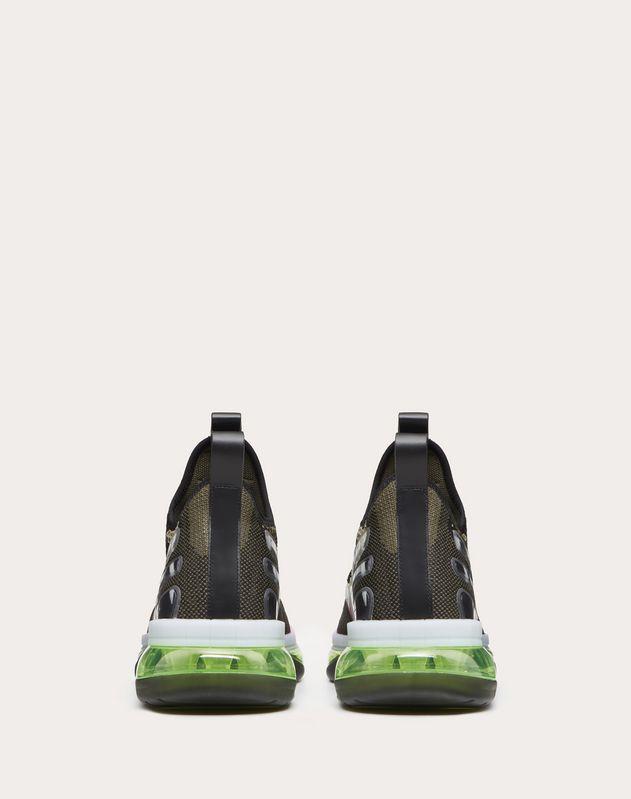 Sneakers VLTN Cloud en jacquard camouflage et caoutchouc.