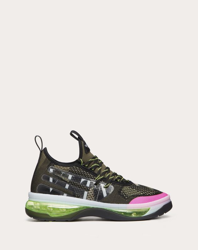 Sneaker VLTN Cloud  in Jacquard Camouflage e Gomma