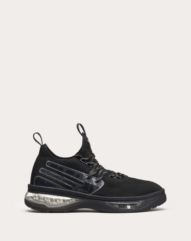 VLTN Cloud Sneaker in Jacquard Fabric and Rubber